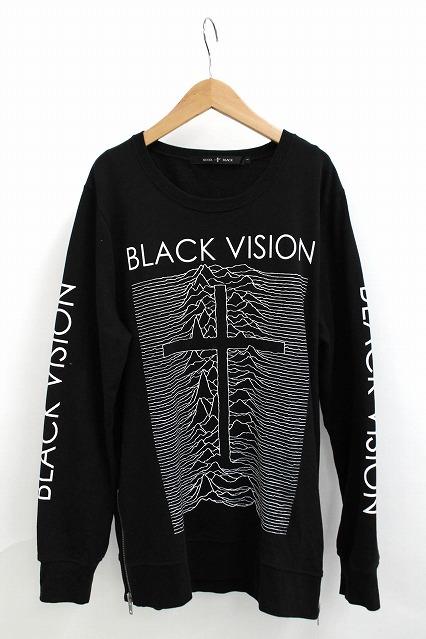 NO ID.BLACK カットソー.Cミニ裏毛BLACK VISION