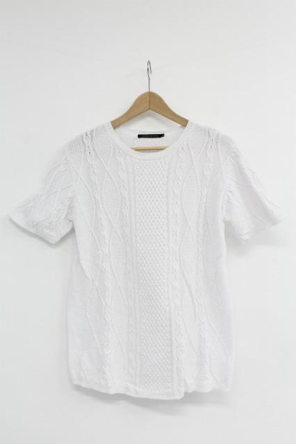 GOSTAR DE FUGA Tシャツ.Navis ケーブル編み半袖サマーニットソー