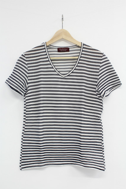 TORNADO MART Tシャツ.リップルボーダー