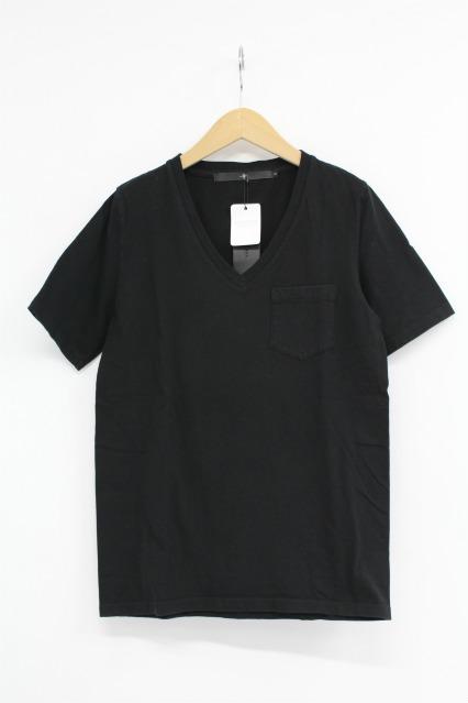 NO ID. Tシャツ.丸胴天竺ポケット付V/N-T/ポケットVネック