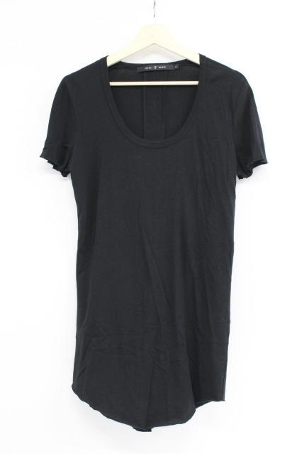 NO ID.BLACK Tシャツ.C天竺バックシームカットオフU/N-T
