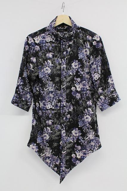 CIVARIZE シャツ.Paysage花柄ジャガード5分袖