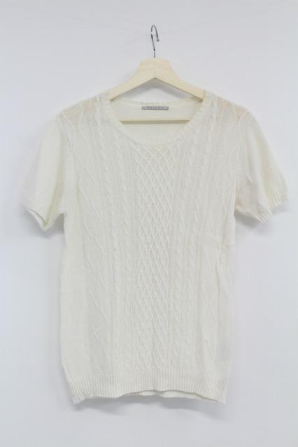 TORNADO MART Tシャツ.フィッシャーマン半袖クルーニット