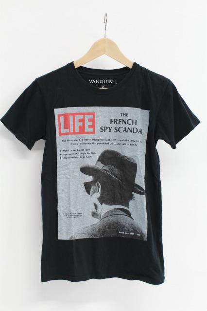 VANQUISHxLIFE Tシャツ.LIFEコラボプリント