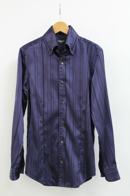 TORNADO MART シャツ.シャイニーストライプドレス