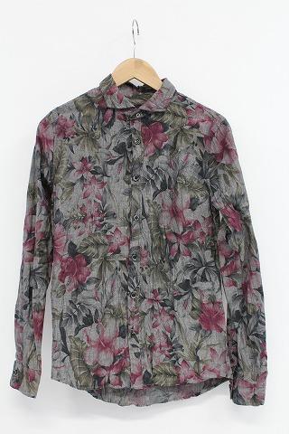 FUGA シャツ.Monotone ボタニカル花柄