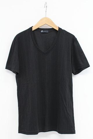TORNADO MART Tシャツ.ランダム針抜きABS Vネック