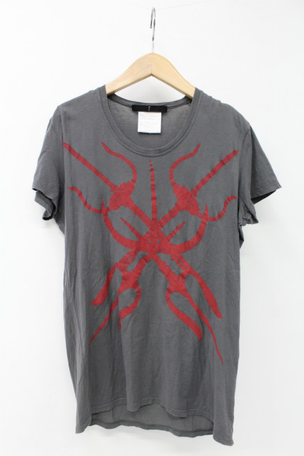 JULIUS Tシャツ.クロスプリント