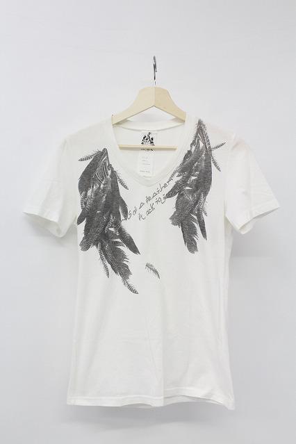 TORNADO MART Tシャツ.フェザープリント