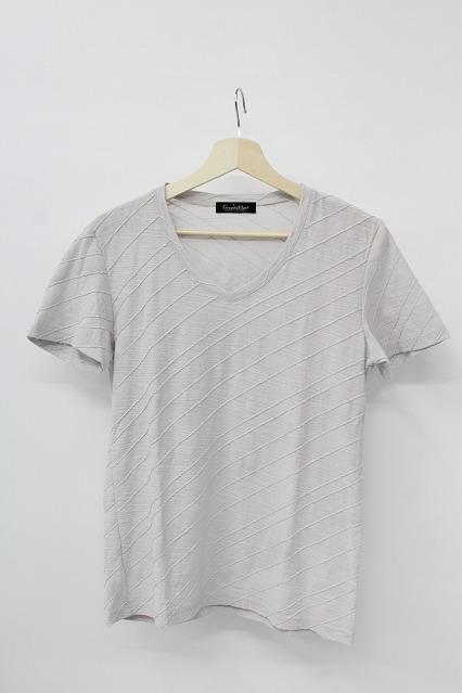 TORNADO MART Tシャツ.バイアスカスリボーダー
