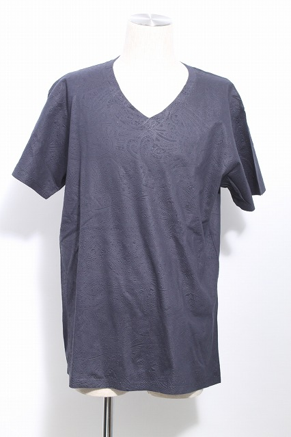 NO ID. Tシャツ.エンボス加工ペイズリー柄VN