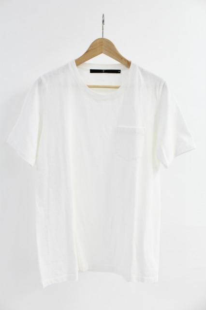NO ID. Tシャツ.C16/-丸胴天竺ポケット付C/N-T