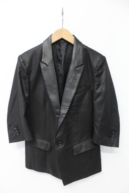 CIVARIZE ジャケット.Calmラペルレザー切り替え6分袖