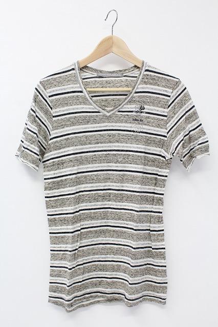 FranCisT_MOR.K.S. Tシャツ.スワロフスキーボーダー