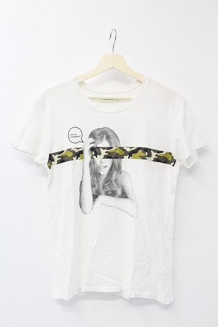VANQUISH Tシャツ.カモテープメッセージフォトクルーネック