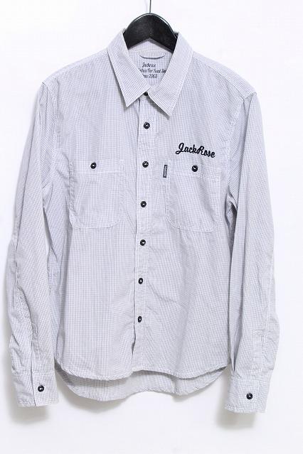 JACKROSE シャツ.ロゴ刺繍チェック