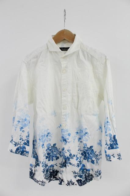 TORNADO MART シャツ.グラデーションフラワー7分袖