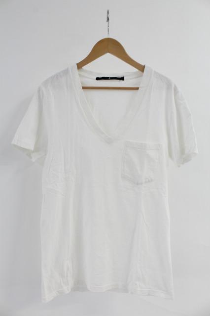 NO ID. Tシャツ.Cラフィー天竺ディープV/N-T