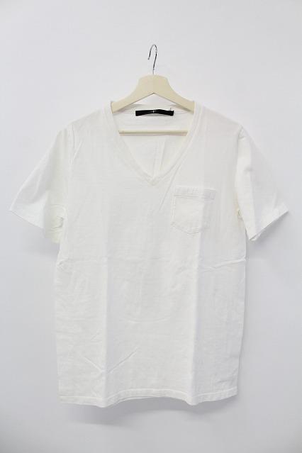 NO ID. Tシャツ.C16/-丸胴天竺ポケット付V/N-T