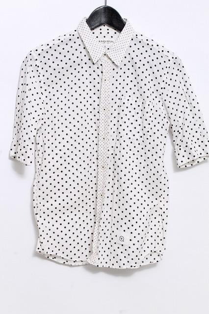 VANQUISH シャツ.五分袖切換えドット