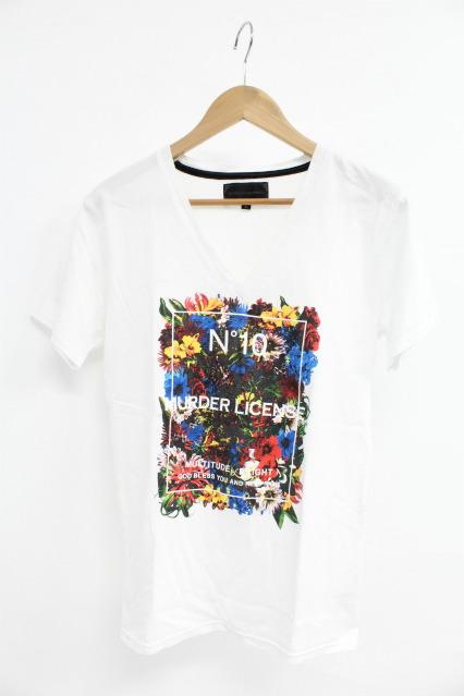 MURDER LICENSE Tシャツ.フラワーボックスVネック