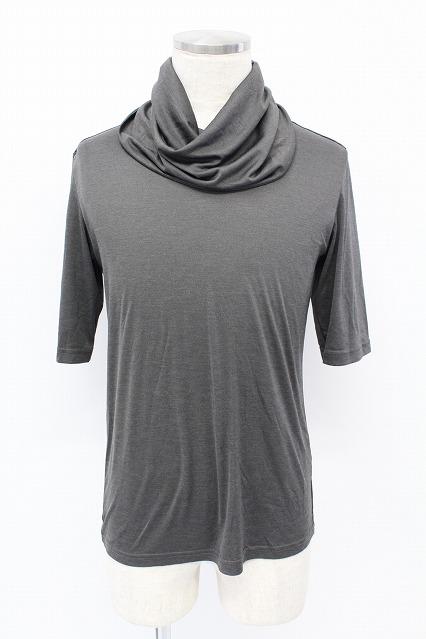 TORNADO MART Tシャツ.タリバンネック5分袖カット
