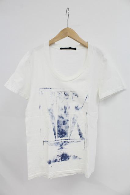 NO ID. Tシャツ.かすれプリント