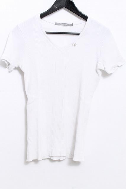 FranCisT_MOR.K.S. Tシャツ.ランダムテレコVネック