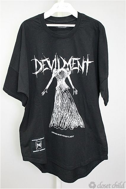 Moonage Devilment(清春) Tシャツ.GRAPHIC BIG SILHOUETTE-T