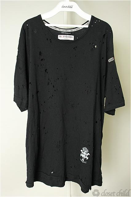 Moonage Devilment(清春) Tシャツ.PROPA9ANDA DISTORTION CARSH