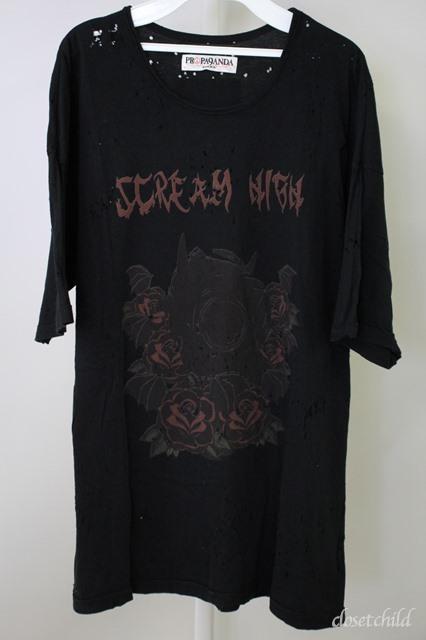 Moonage Devilment(清春) Tシャツ.PROPA9ANDA SCREAM HIGH CRASH
