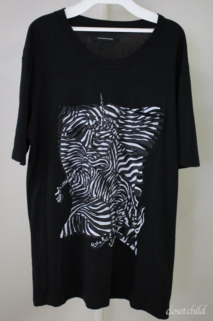 Moonage Devilment(清春) Tシャツ.ゼブラユニコーンポケット