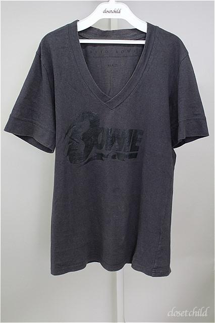 Moonage Devilment(清春) Tシャツ.MaD×BOWIE V/N LOGO T