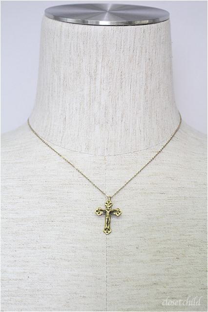 Moonage Devilment(清春) ネックレス.SAHRIVARコラボJesus Necklace Brass