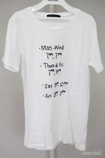 GOSTAR DE FUGA Tシャツ.WaitForYouチェーンステッチメッセージ