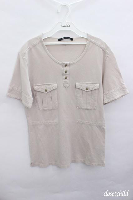 Moonage Devilment(清春) Tシャツ.ポケットヘンリーUネック
