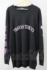 TRAVAS TOKYO カットソー.袖くまラウンドロゴスウェット